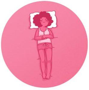 dormir sur le dos